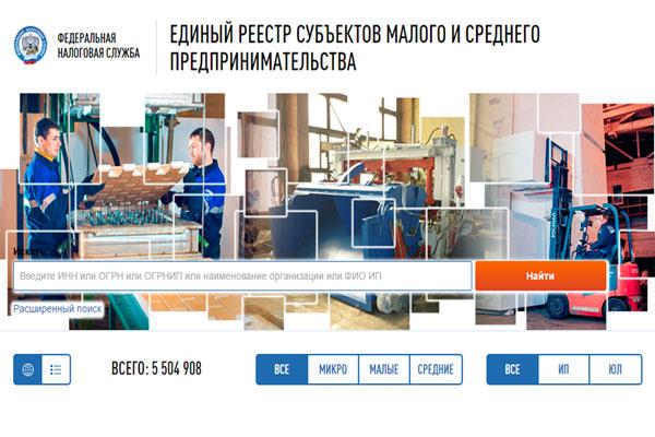 Новый государственный реестр для развития в России  малого и среднего предпринимательства