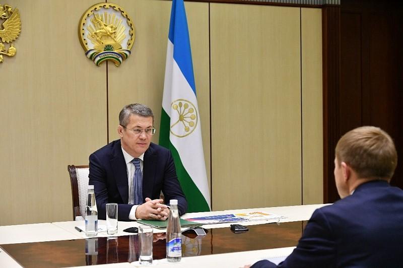 Радий Хабиров встретился с президентом «Опоры России» Александром Калининым